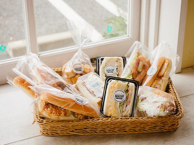 隆勝堂ベーカリーのサンドイッチ